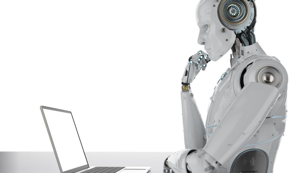 robots at work, humans and machines